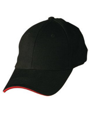 Picture of Winning Spirit - CH37 - Heavy Unbrushed Cotton Structured Fitted Cap With Sandwich