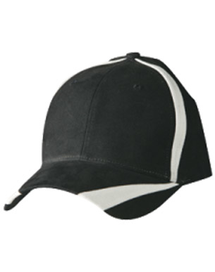 "Picture of Winning Spirit - CH81 - Brushed Cotton Twill Baseball Cap With ""X"" Contrast Stripe"