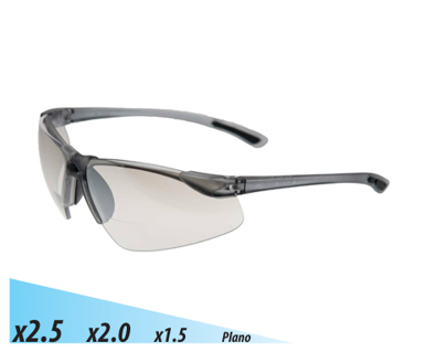 Picture of VisionSafe -101GYSD - Smoke Hard Coat Safety Glasses