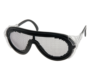 Picture of VisionSafe -1018M - Black Mesh Safety Glasses