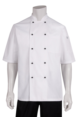 Picture of Chef Works - MBSS - Macquarie White SS Basic Chef Coat