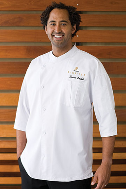 Picture of Chef Works - SI34-WWT - Positano Signature Series White 34 Sleeve Chef Coat