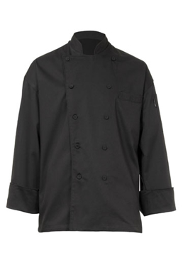 Picture of Chef Works - EWCB - Zurich Black Executive Chef Coat