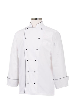 Picture of Chef Works - MICC - Newport Executive Chef Coat w Black Piping