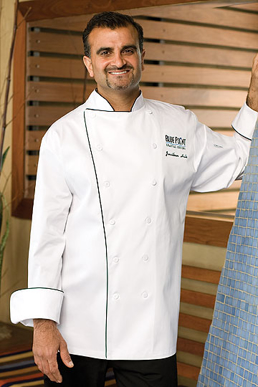 Picture of Chef Works - RECC - Reims Executive Chef Coat w Black Piping