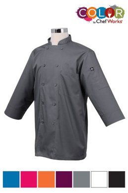 Picture of Chef Works - JLCL-BLU - Blue 34 Basic Lite Chef Coat