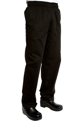 Picture of Chef Works - EBCP - Black 100% Cotton Designer Baggy