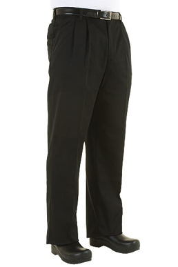 Picture of Chef Works - CEBP - Black Basic Chef Pant