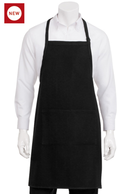 Picture of Chef Works - A605-BLK - Black Waffle Weave Bib Apron