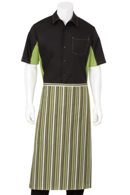 Picture of Chef Works - F24-LIW - LimeWhiteBrown 34 Bistro Apron