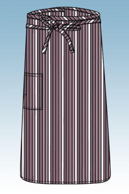 Picture of Chef Works - F24-MEG - MerlotGrayWhite 34 Bistro Apron
