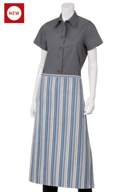 Picture of Chef Works - F24-BGW - BlueGrayWhite 34 Bistro Apron