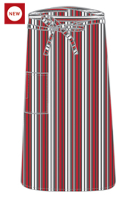 Picture of Chef Works - F24-RGB - RedGrayBlack 34 Bistro Apron