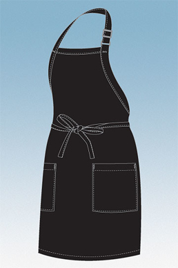 Picture of Chef Works - F53-BLK - Black Two Patch Pocket Apron