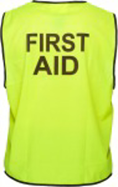 Picture of Uniform Ausralia - HV102Z-FA - Stock Printed FIRST AID Day/Night Vest