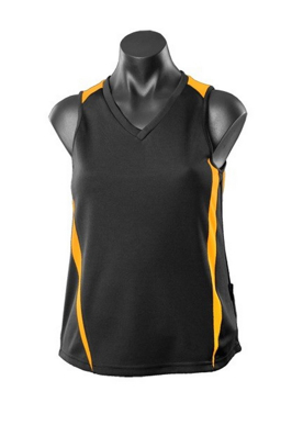 Picture of Aussie Pacific - 2104-Eureka Ladies Singlet + Hi Viz