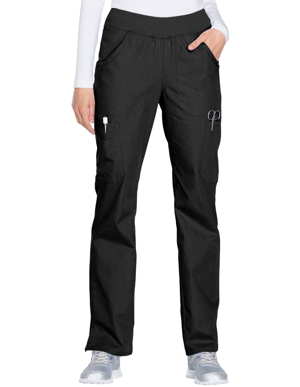 Picture of CHEROKEE-CH-WW210-Cherokee Workwear Women's Mid Rise Straight Leg Pull-on Cargo Pant