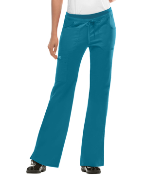 Picture of CHEROKEE-CH-24001P-Cherokee WorkWear Women's Junior Flare Drawstring Petite Scrub Pants