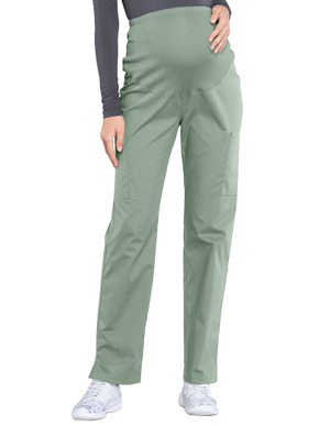Picture of CHEROKEE-CH-WW220P-Cherokee Workwear Professionals Maternity Knit Waist Straight Leg Petite Pant