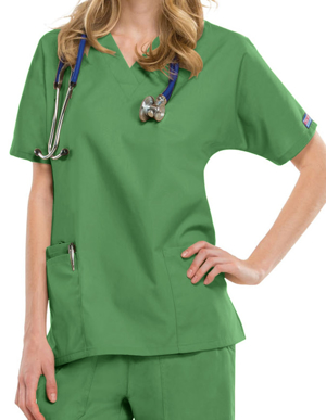 Picture of CHEROKEE-CH-4700-Cherokee Workwear Women's Two Patch Pockets Nurse Scrub Top