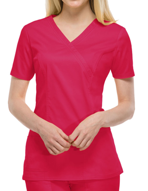 Picture of CHEROKEE-CH-4728-Cherokee Workwear Womens Mock Wrap Scrub Top