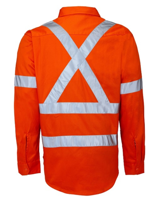 "Picture of Ritemate Workwear-RM106XR-Open Front with 3M 8910 Reflective Tape ""X"" design Shirts"