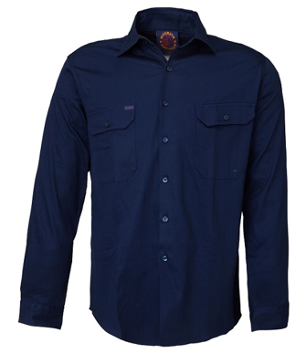Picture of Ritemate Workwear-RM108V3-Vented Open Front Light Weight Shirts