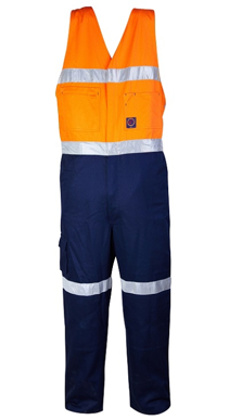 Picture of Ritemate Workwear-RM909AR-2 Tone Action Back Overall