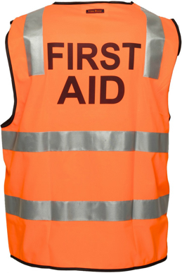 Picture of Prime Mover-MZ103-Stock Printed FIRST AID Day/Night Vest