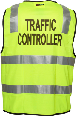 Picture of Prime Mover-MZ105-Stock Printed TRAFFIC CONTROLLER Day/Night Vest