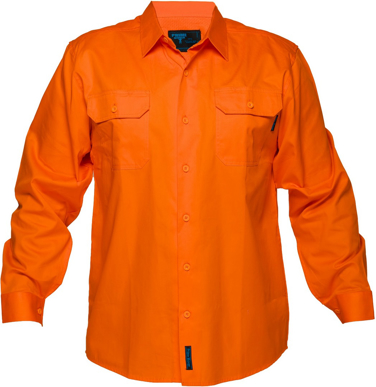 Picture of Prime Mover-MS301-Hi Vis Cotton Drill Shirt