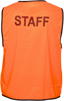 Picture of Prime Mover-MV121-Stock Printed STAFF Day Vest