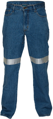 Picture of Prime Mover-MW169-Denim Jeans with reflective tape
