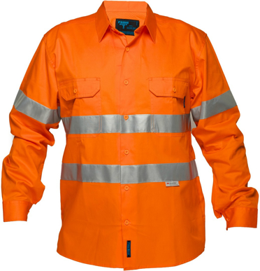 Picture of Prime Mover-MA301-Hi Vis Cotton Drill Shirt