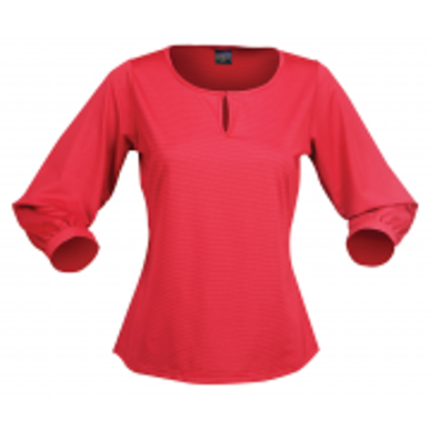Picture of Stencil Uniforms-1258Q-Ladies 3/4S SILVERTECH 3/4S LADIES TOP