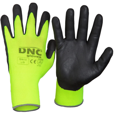 Picture of DNC Workwear-GN10-Hivis Nitrile Supaflex