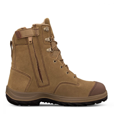 Picture of Oliver Boots-34-674P-190MM HI-LEG BEIGE ZIP SIDED BOOT WITH PENETRATION PROTECTION