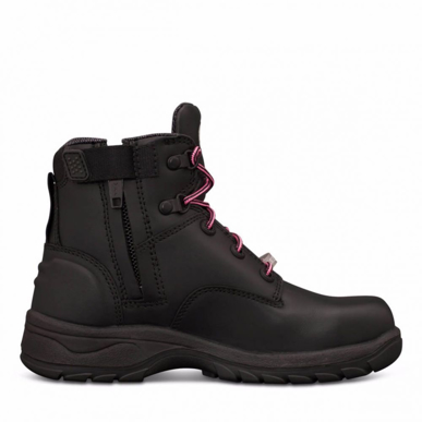 Picture of Oliver Boots-49-445-WOMEN'S BLACK ZIP SIDED BOOT