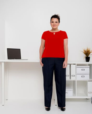 Picture of LSJ collection-197K-MG-Ladies Easyfit pull on pant with full back elastic, pockets & keyloop