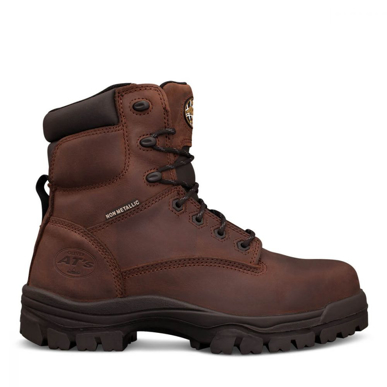 Picture of Oliver Boots-45-637-150MM BROWN LACE UP BOOT