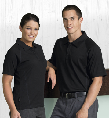 Picture of Gear For Life-WEGMSP-Merino Short Sleeve Polo - Womens