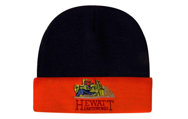 Picture of Headwear Stockist-3027-Acrylic Beanie Hi-Vis turn-up