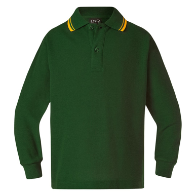 Picture of LW Reid-L42204-Tait Classic Twin Stripe Polo (Long Sleeve)