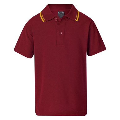 Picture of LW Reid-5220A4-Johnston Classic Twin Stripe Polo (Short Sleeve)