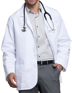 Picture of Cherokee Uniforms-CH-1389-Cherokee Med Man Three Pocket 31 inch Short Consultation Lab Coat