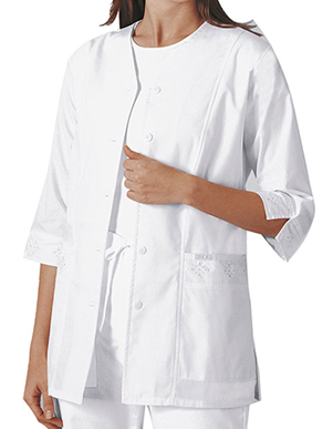 Picture of Cherokee Uniforms-CH-1949-Cherokee Women's 29.5 Inches Three Quarter Sleeve Medical Scrub Jacket