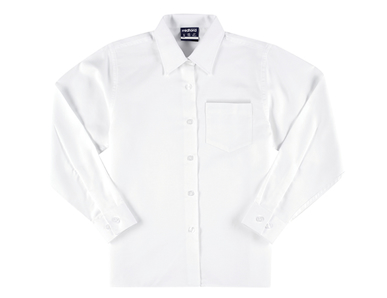 Picture of Midford Uniforms-BLOL5032-GIRLS LONG SLEEVE BRUSHED POLY / COTTON SCHOOL BLOUSE(5032)