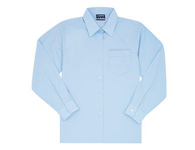 Picture of Midford Uniforms-BLOL5037-GIRLS LONG SLEEVE BASIC SCHOOL BLOUSE(5037)
