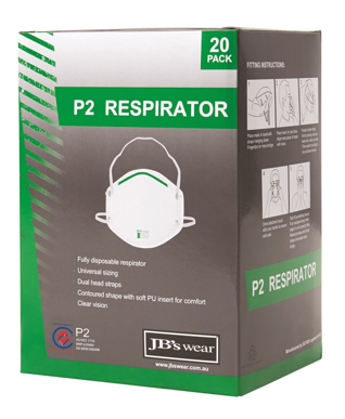 Picture of JBs Wear-8C100-JB'S P2 RESPIRATOR (20PC) (Not in stock currently)