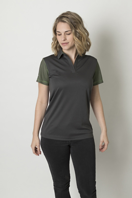 Picture of Be seen-BKP600L-Ladies polo with contrast sublimated striped sleeves